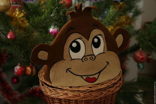 """Шапки ручной работы. Ярмарка Мастеров - ручная работа. Купить Банная шапка """"Мартышка"""". Handmade. Коричневый, обезьянка, банная шапка"""