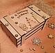 Декупаж и роспись ручной работы. Ящик для подарков. WOODING  (Вудинг). Ярмарка Мастеров. Ящик на 2 бутылки, мужской подарок