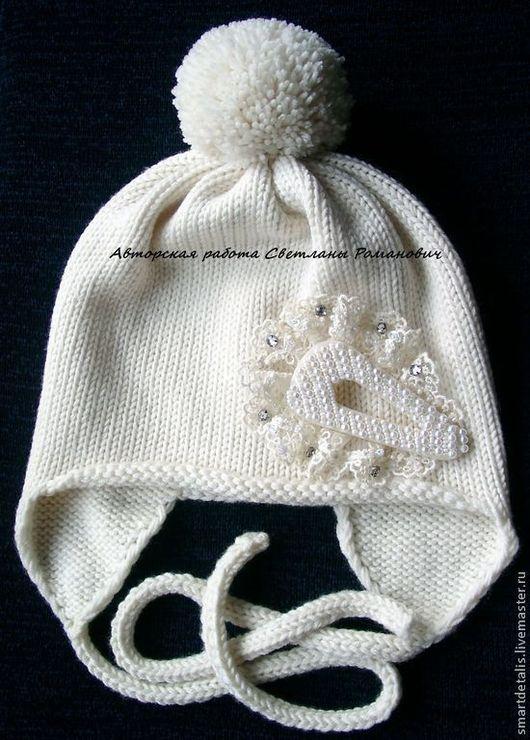 Шапки и шарфы ручной работы. Ярмарка Мастеров - ручная работа. Купить Мериносовая шапочка для девочки. Handmade. Шапка, детская шапка