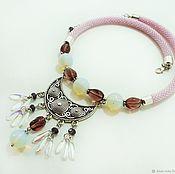 Украшения handmade. Livemaster - original item Necklace with aplicom Lada. Handmade.