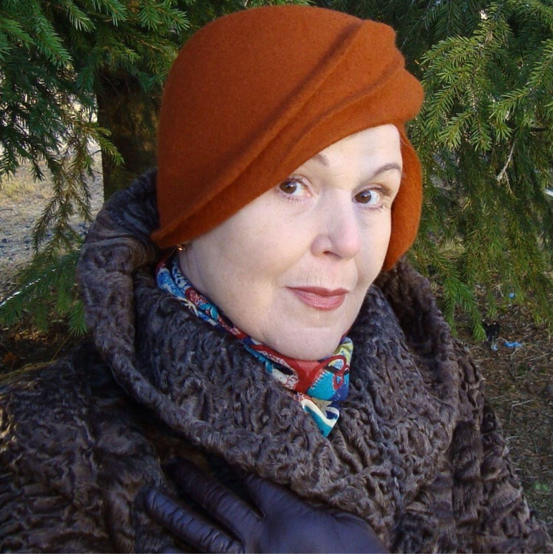 Women's hat ' Leaf copper', Hats1, Petrozavodsk,  Фото №1