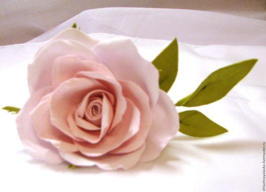 """Заколки ручной работы. Ярмарка Мастеров - ручная работа. Купить Шпилька для волос """"Розовая роза"""". Handmade. Белый, украшения с цветами"""
