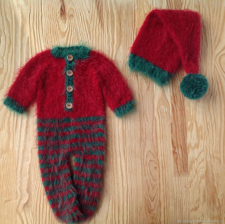 Комплект Помощник Санты для новогодней фотосессии новорожденных, Одежда, Пенза, Фото №1