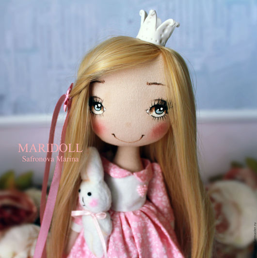 Коллекционные куклы ручной работы. Ярмарка Мастеров - ручная работа. Купить Принцесса Nessie интерьерная текстильная кукла. Handmade.