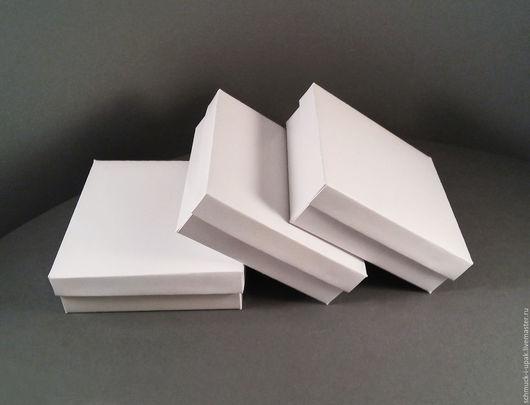 Упаковка ручной работы. Ярмарка Мастеров - ручная работа. Купить Коробки 9х9х3 и 8х8х3 см, белые. Handmade. Коробочки, упаковка