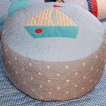 Для дома и интерьера ручной работы. Ярмарка Мастеров - ручная работа Детский пуфик Кораблик   морской стиль. Handmade.
