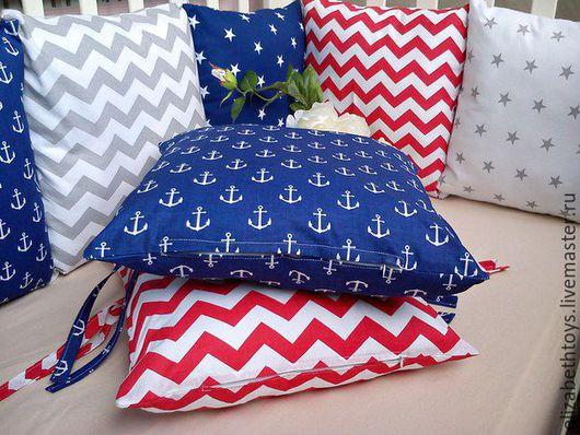 Бортики - подушки в морском стиле для мальчика