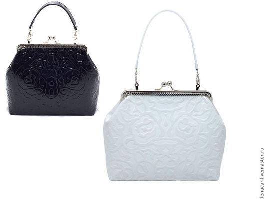 Женские сумки ручной работы. Ярмарка Мастеров - ручная работа. Купить Женская кожаная сумка белая 213 (250 черная). Handmade.
