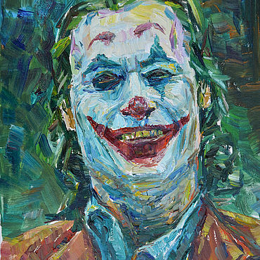 Картины и панно ручной работы. Ярмарка Мастеров - ручная работа Джокер портрет 2019, Бэтмен, супергерой комиксы, холст, масло. Handmade.