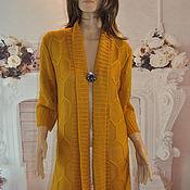 Одежда handmade. Livemaster - original item Knitted cardigan, cotton-viscose, ,44-48p.. Handmade.