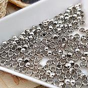Материалы для творчества handmade. Livemaster - original item 50 PCs. Crimp beads crimp 2.5x2 mm (3628 mm). Handmade.
