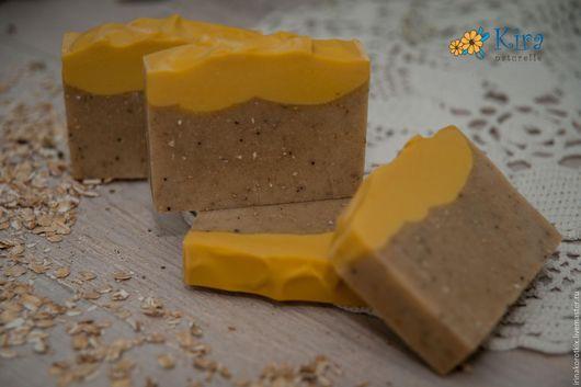 Мыло ручной работы. Ярмарка Мастеров - ручная работа. Купить Овсяное, натуральное мыло. Handmade. Оранжевый, мыло ручной работы