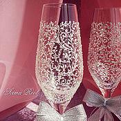 Свадебный салон ручной работы. Ярмарка Мастеров - ручная работа Свадебные бокалы Джейн. Handmade.
