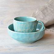 """Посуда ручной работы. Ярмарка Мастеров - ручная работа Набор """"Морской прибой"""". Handmade."""