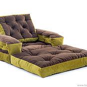 "Для дома и интерьера handmade. Livemaster - original item Frameless chair mattress ""Vintage"" bench. Handmade."