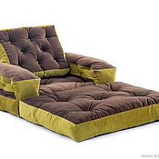 "Винтаж handmade. Livemaster - original item Frameless chair mattress ""Vintage"" bench. Handmade."