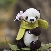 Куклы и игрушки ручной работы. Ярмарка Мастеров - ручная работа Панда Ветерок.  Мини мишка тедди. 7см. Handmade.