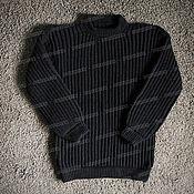 Одежда handmade. Livemaster - original item Knitted black sweater made of acrylic (No. №504). Handmade.