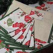 Подарки к праздникам handmade. Livemaster - original item Table textiles set With a warm holiday.. Handmade.