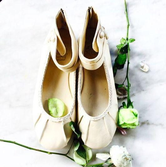 Обувь ручной работы. Ярмарка Мастеров - ручная работа. Купить Muse. Балетки кожаные на ремешке для дома, офиса, прогулок. Handmade.
