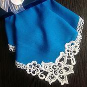 handmade. Livemaster - original item Handkerchief women`s lace monogram embroidery. Handmade.