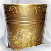 Для дома и интерьера ручной работы. Ярмарка Мастеров - ручная работа Ведро для льда (шампанского)  Золотой узор. Handmade.
