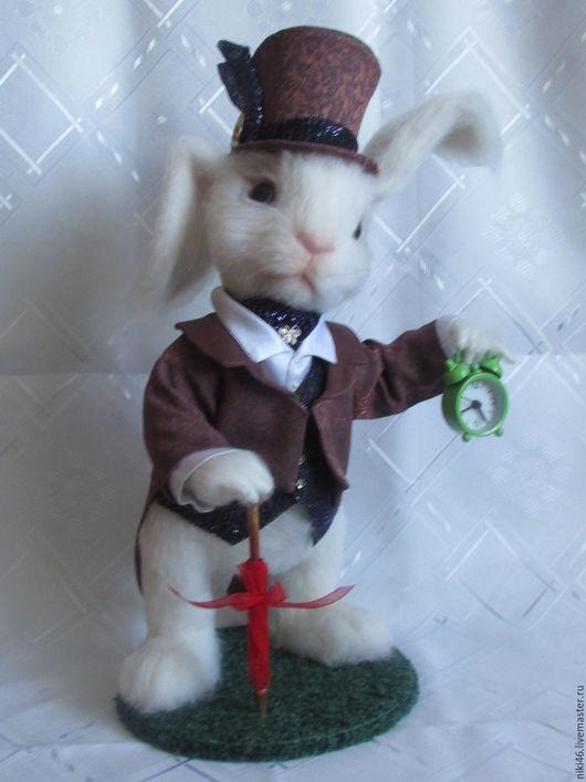 Игрушки животные, ручной работы. Ярмарка Мастеров - ручная работа. Купить Белый Кролик. Handmade. Комбинированный, валяная игрушка