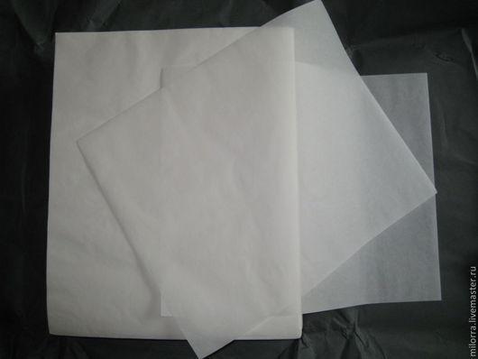 Пергамент отбеленный пищевой, марки А (65 гр/м2) размером  37см х  30 см. Стоимость листа - 4 рубля.