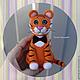 Игрушки животные, ручной работы. Ярмарка Мастеров - ручная работа. Купить Тигрик. Handmade. Рыжий, тигровый, войлочная игрушка