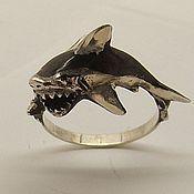 """Кольца ручной работы. Ярмарка Мастеров - ручная работа Серебряное кольцо """"Акула"""". Handmade."""