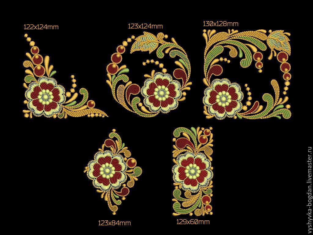 Machine embroidery designs set of slavic motifs shop