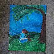 """Картины и панно ручной работы. Ярмарка Мастеров - ручная работа Картинка """"Давай страшную"""". Handmade."""