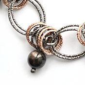 Украшения handmade. Livemaster - original item Sapphire black. Necklace and earrings in 925 silver (blackening, gilding). Handmade.