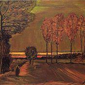 Картины ручной работы. Ярмарка Мастеров - ручная работа Картина.Ван Гог.Копия.Autumn Landscape at Dusk. Handmade.