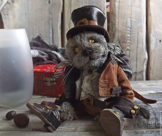 Мишки Тедди ручной работы. Ярмарка Мастеров - ручная работа. Купить Котик тедди Райли. Handmade. Кот, котенок, теддик