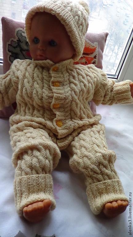 """Одежда ручной работы. Ярмарка Мастеров - ручная работа. Купить вязаный комбинезон   для новорожденных """"карамелька"""". Handmade. Комбинезон для малыша"""