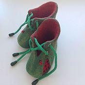 """Обувь ручной работы. Ярмарка Мастеров - ручная работа Пинетки валяные """"Арбузик"""". Handmade."""