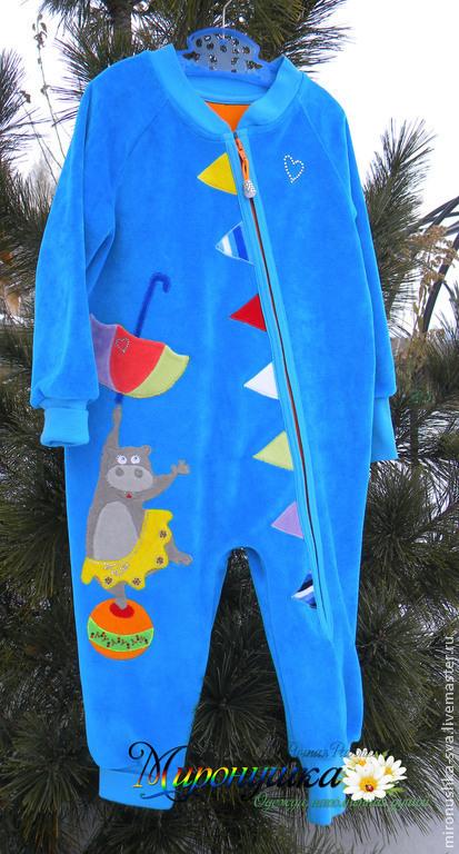 """Одежда для девочек, ручной работы. Ярмарка Мастеров - ручная работа. Купить Велюровый комбинезон на подкладе """"Звездочка цирка"""". Handmade. Бирюзовый"""