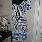Одежда handmade. Livemaster - original item crochet dress Running on the waves. Handmade.