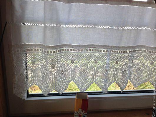 """Текстиль, ковры ручной работы. Ярмарка Мастеров - ручная работа. Купить шторки для дачи """"Бавария"""". Handmade. Шторы, ручная работа"""