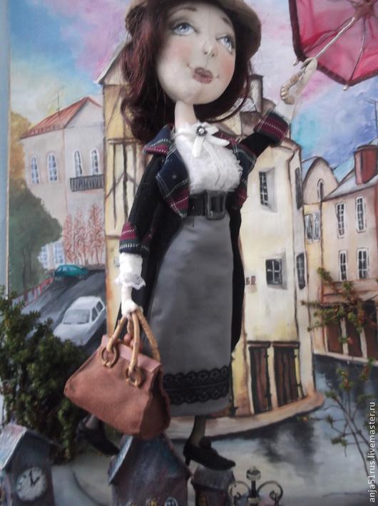 Куклы тыквоголовки ручной работы. Ярмарка Мастеров - ручная работа. Купить Мэри Поппинс продана. Handmade. Чёрно-белый, органза