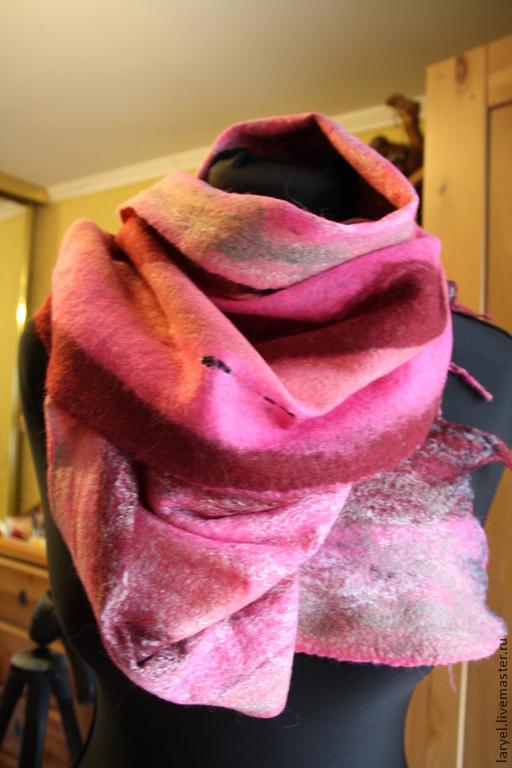 Шарфы и шарфики ручной работы. Ярмарка Мастеров - ручная работа. Купить Шарф- палантин. Handmade. Теплый шарф, стильный подарок