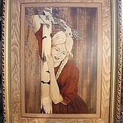 """Картины и панно ручной работы. Ярмарка Мастеров - ручная работа """"После свидания"""" шпон-маркетри 2009г.. Handmade."""