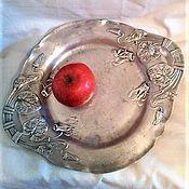 Блюдо для фруктов оловянное .Антиквариат