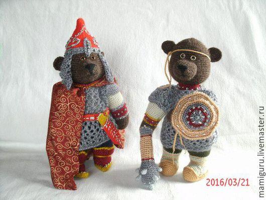 Игрушки животные, ручной работы. Ярмарка Мастеров - ручная работа. Купить Медведи Вольга и Микула. Handmade. Комбинированный, вязаный медведь