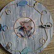 """Для дома и интерьера ручной работы. Ярмарка Мастеров - ручная работа Часы для детской """"Морячок"""". Handmade."""