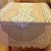 Для дома и интерьера ручной работы. Ярмарка Мастеров - ручная работа Столешница льняная ручной вышивки. Handmade.