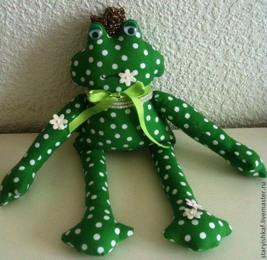Игрушки животные, ручной работы. Ярмарка Мастеров - ручная работа. Купить Текстильная игрушка Лягушка Жабуля в стиле Тильда. Handmade.