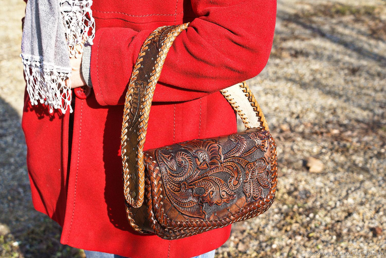 Leather women's handbag 'chest', Classic Bag, Krasnodar,  Фото №1