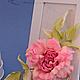 """Броши ручной работы. Заказать Роза """"Scintillio"""". Натуральный шелк. 'Poli-Flower'   (Надежда). Ярмарка Мастеров. Подарок, подарок подруге"""